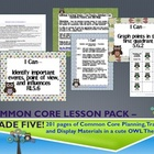 Owl Theme Grade Five Common Core Lesson Planning Pack
