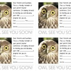 Owl Theme Parent Teacher Conference Reminder Card