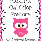 Owl Theme Polka Dot Color Posters