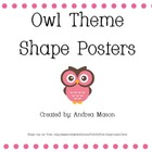 Owl Theme Shape Posters