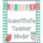 Owl Theme Substitute Binder