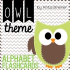 Owl Themed Alphabet Flashcards