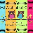 Owl Themed Alphabet Poster Cards