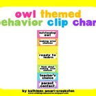 Owl Themed Behavior Clip Chart