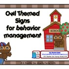 Owl Themed Behavior Management Signs