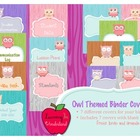 Owl Themed Binder Covers-Cute and Colorful!
