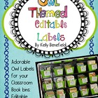 Owl Themed Book Bin Labels-Editable