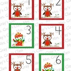 Owl Themed Calendar Cards - December