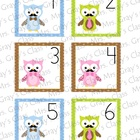 Owl Themed Calendar Cards - June