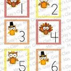 Owl Themed Calendar Cards - November