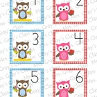 Owl Themed Calendar Cards - September