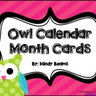 Owl Themed Calendar Cards