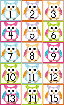 Owl Themed Classroom Calendar Set