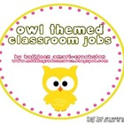 Owl Themed Classroom Jobs