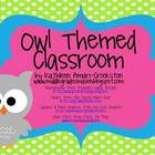 Owl Themed Classroom