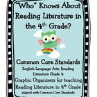 Owl Themed Common Core Reading Literature Graphic Organize