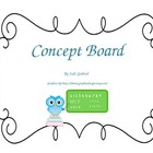 Owl Themed Concept Board