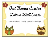 Owl Themed Cursive Wall Cards