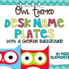 Owl Themed Desk Nameplates