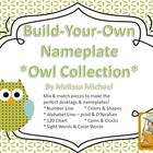 Owl Themed Desktag Nameplate Collection - Build Your Own!