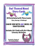 Owl Themed Differentiated Novel Cards