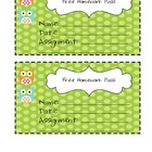 {Owl Themed} Free Homework Pass *Freebie*