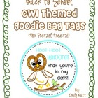 Owl Themed Goodie Bag Tags (for pretzels!)