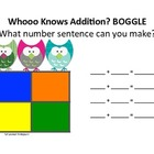 Owl Themed Math Boggle