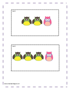 Owl Themed Math Cards for adding and subtracting