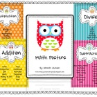 {Owl Themed} Math Posters