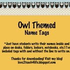 Owl Themed Name Tags1