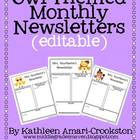 Owl Themed Newsletters (Editable)