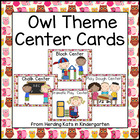 Owl Themed Pocket Chart  Center Cards