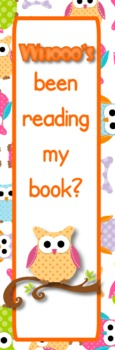 Owl Themed Reading Bookmarks - FREE