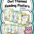 """Owl"" Themed Reading Motivational Posters"