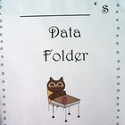Owl Themed Student Data Folders for Grade 1