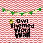 Owl Themed Word Wall