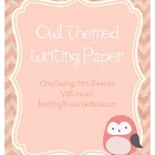 Owl Themed Writing Paper