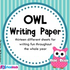 Owl Themed Writing Paper - Wide-Ruled