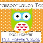Owl Transportion Tags