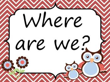 Owl Where are we cards? Set 1