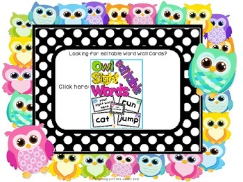 Owl Word Wall