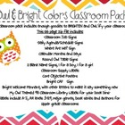 Owl and Brights Classroom Theme Pack