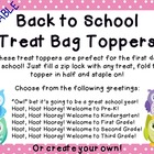 Owl and Polka Dot Back to School Treat Topper