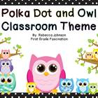 Owl and Polka Dot Calendar and Classroom Super Pack