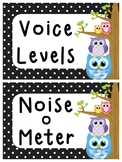 Owl and Polka Dot Voice Level posters