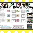 Owl of the Week Bulletin Board Display Kit (Student of the Week)