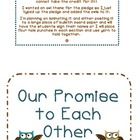 Owl themed classroom pledge/promise to each other