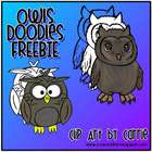 Owls Doodles FREEBIE