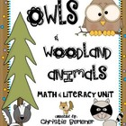 Owls &amp; Woodland Animals Math &amp; Literacy Unit